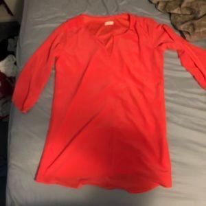 Orange/Pink Tobi Dress! Never worn. Size Large